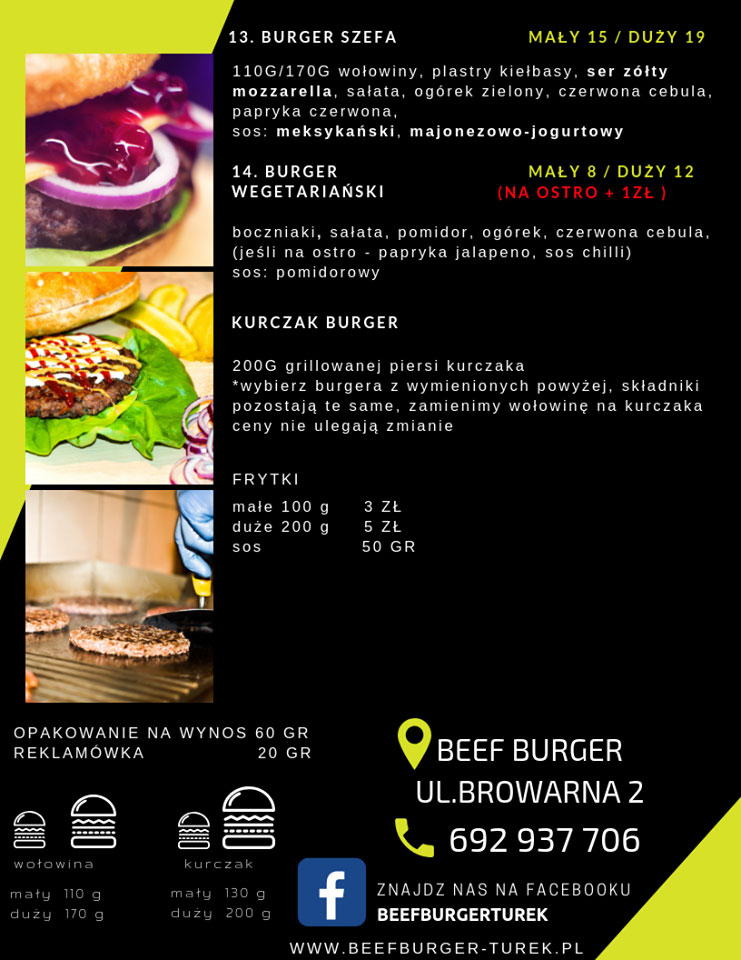 Beef Burger Turek