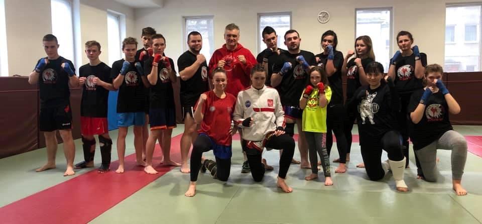 Klub Sportów i Sztuk Walk z Turku na treningach w Warszawie