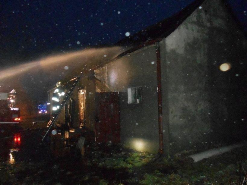 Tuliszków. Pożar domu w Sarbicku
