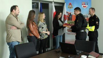 Spotkanie z lokalnymi mediami w PSP Turek