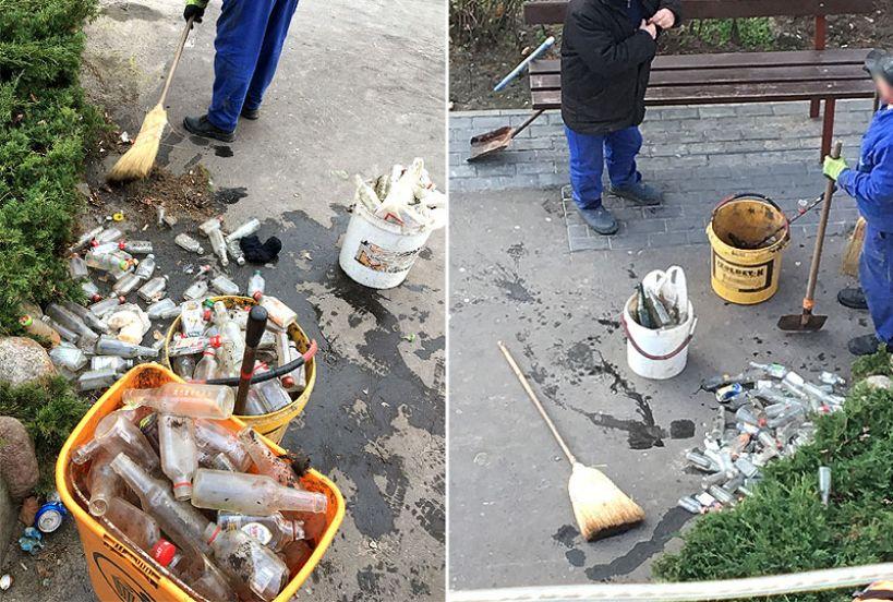 Codzienne śmieciowisko na Kączkowskiego. Mieszkańcy mają dość pobliskiego sklepu - foto: Nadesłane przez czytelnika