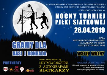 Nocny Turniej Piłki Siatkowej - gramy dla Basi...