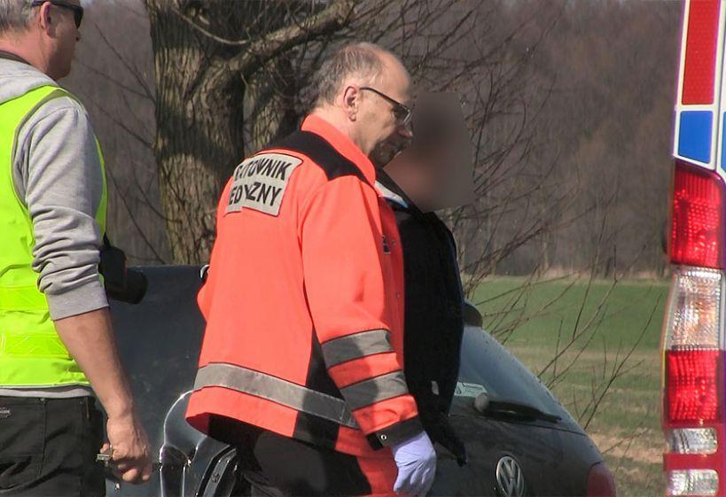 Wideo: Pijany kierowca dachował na Jana Pawła II. Miał ponad 2 promile alkoholu we krwi.