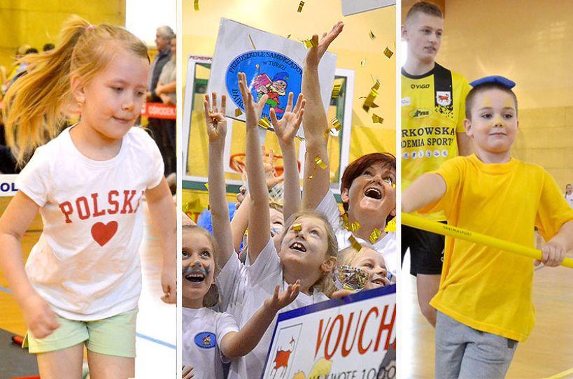 II Mistrzostwa Miasta Turku Przedszkoli czyli radosna rywalizacja najmłodszych sportowców. - foto: Michał Sidorowicz