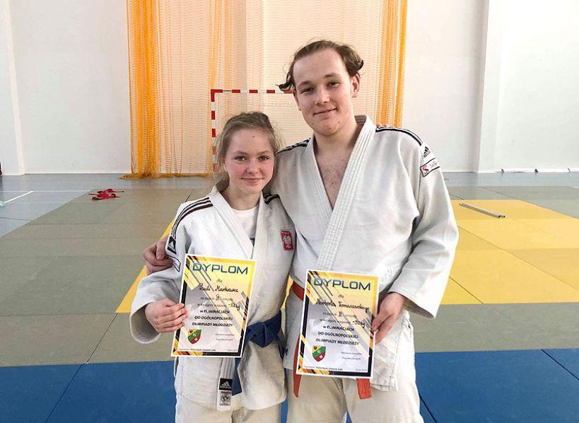 Zawodnicy UKS Judo Tuliszków na eliminacjach do Olimpiady