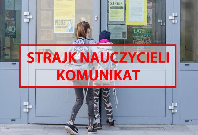 Komunikat UM Turek związany ze strajkiem nauczycieli