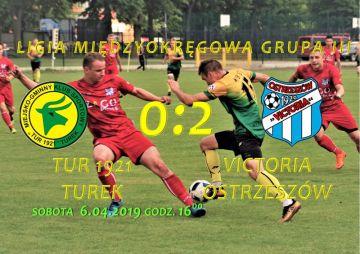 Porażka 0-2 drużyny Tur 1921 Turek