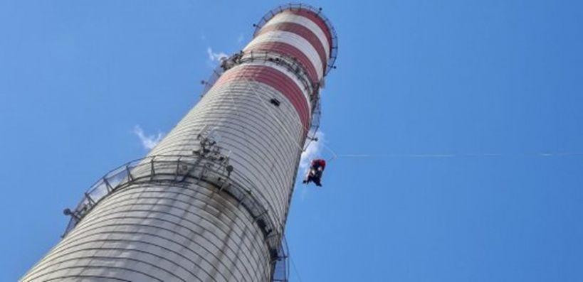 Ćwiczenia wysokościowe na terenie byłej Elektrowni