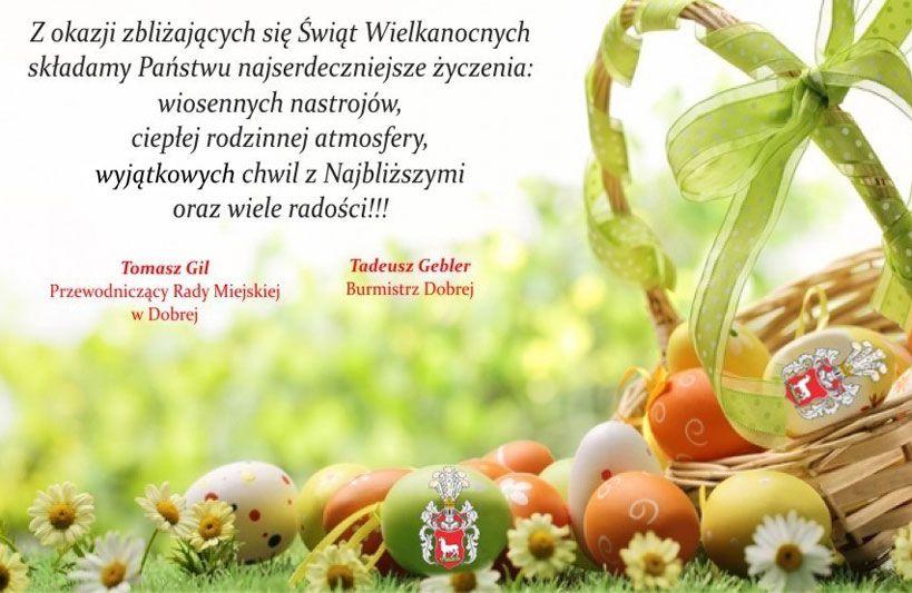 Życzenia Wielkanocne Gmina Dobra