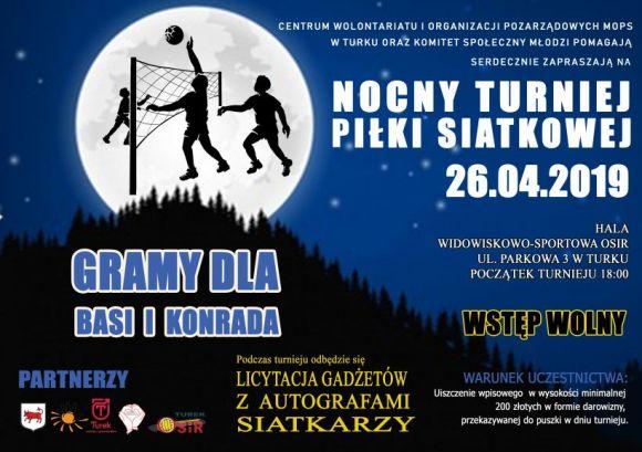 Miasto Turek: Nocny Turniej Piłki Siatkowej - Przyjdź, Licytuj, Wspieraj