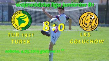 Sukces juniorów Tur 1921 Turek. Zwycięstwo 8:0...