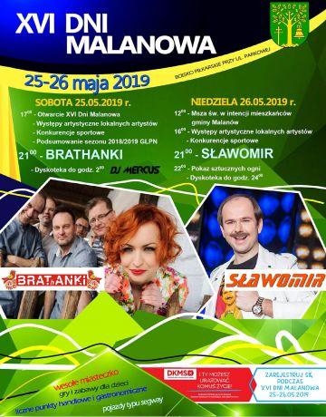 Brathanki i Sławomir już w ten weekend w Malanowie. XVI Dni Malanowa zapraszają!