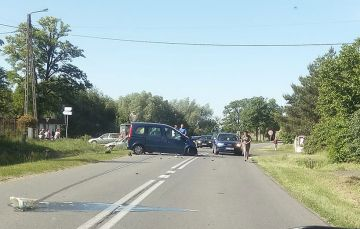 Kolejny wypadek na skrzyżowaniu w Ciemieniu....