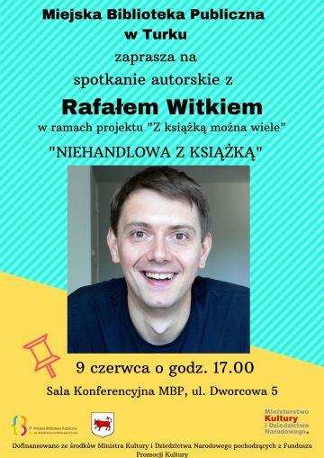Spotkaj się z Rafałem Witkiem w miejskiej bibliotece