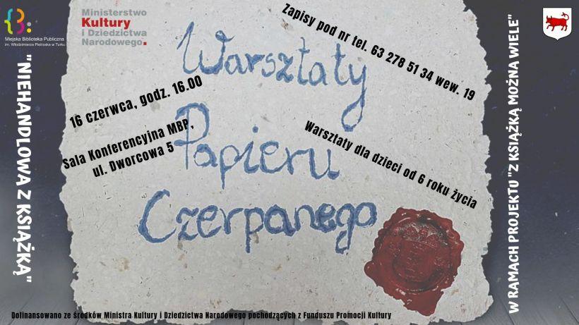 Przyjdź i zrób własny papier! Kolejne warsztaty w Bibliotece 16 czerwca