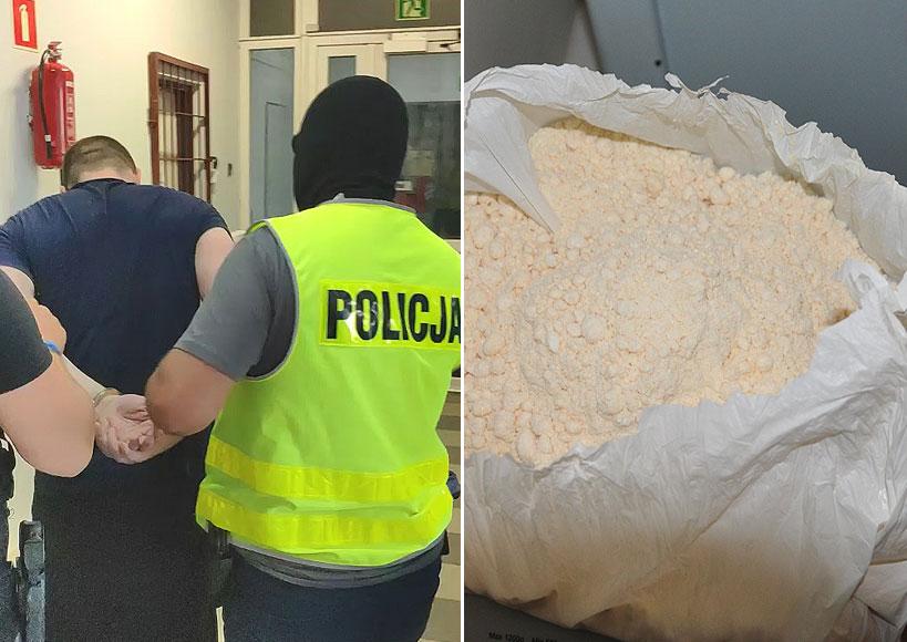 Wideo: Posiadał 10 kg amfetaminy! Teraz posiedzi 10 lat. Sukces policji w Dobrej.