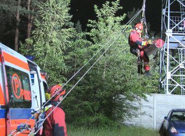 Wideo: 63-latek zasłabł na wieży obserwacyjnej....