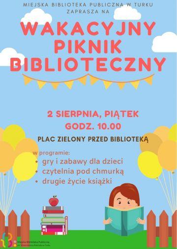 Piknik z książką w tle już w najbliższy piątek!