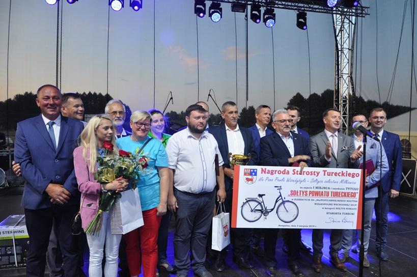 Sołtys wsi Miłkowice z tytułem najpopularniejszego sołtysa powiatu tureckiego - Zdjęcie nadesłane