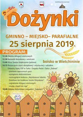 Dożynki Gminno-Parafialne we Wietchininie