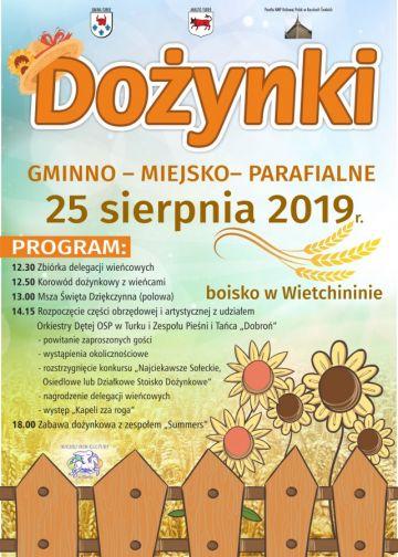 Dożynki Gminno-Parafialne we Witchininie