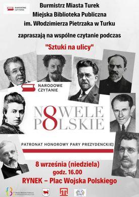 VIII edycja Narodowego Czytania podczas Sztuki ulicy