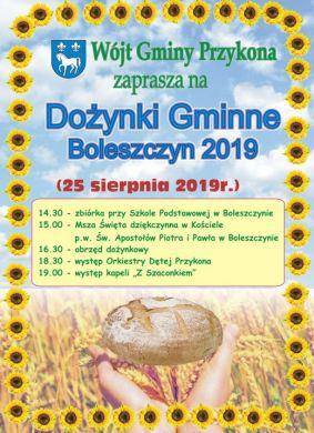 Dożynki Gminno-Parafialne w Boleszczynie