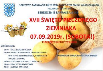 Tarnowski Młyn zaprasza na Święto Pieczonego Ziemniaka. Będzie smacznie i wesoło już 7 września!