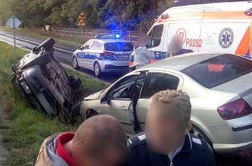 Dwa wypadki po burzy w gminie Władysławów....