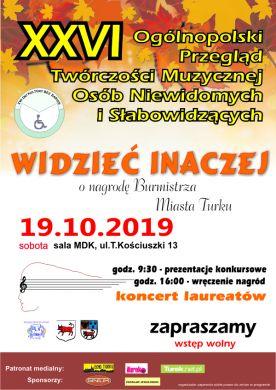26. Ogólnopolski przegląd twórczości muzycznej osób niewidomych i słabowidzących ?Widzieć inaczej?