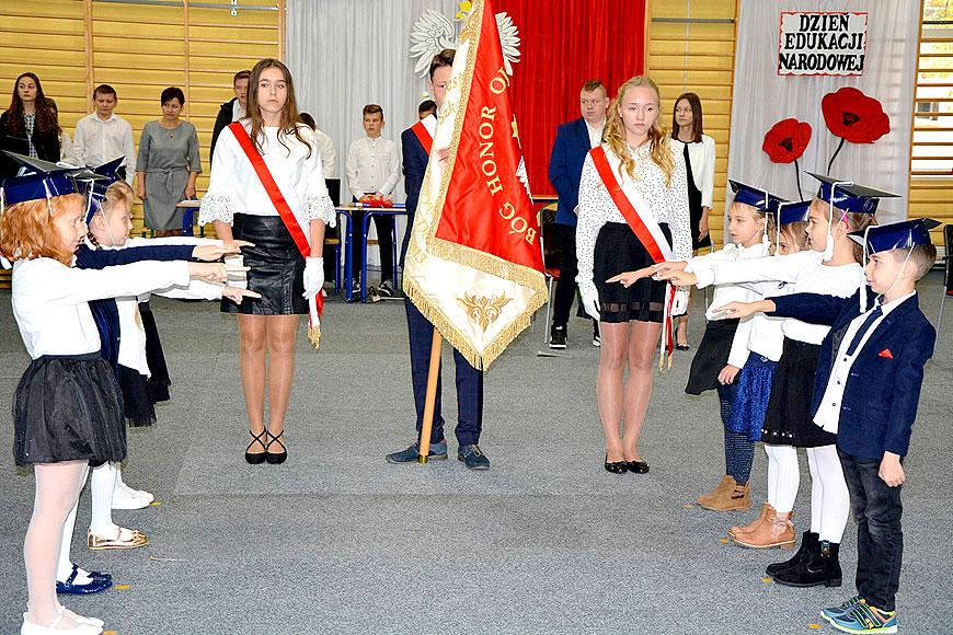 Dzień Edukacji Narodowej, Święto Patrona i Ślubowanie klas 1 w ZS-P w Dobrej