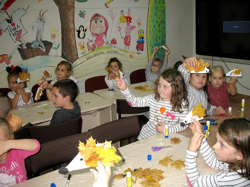 Jesienne warsztaty przedszkolaków od Misia Uszatka
