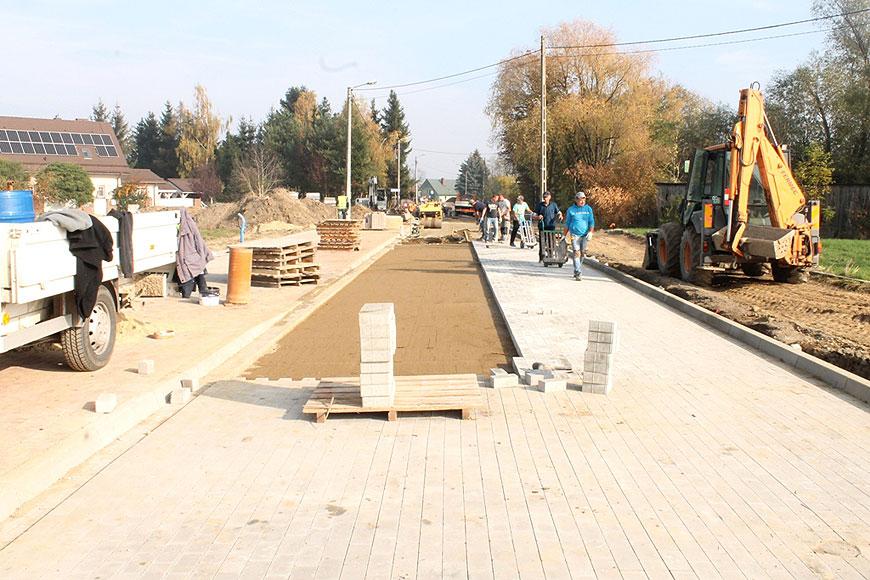 Trwają prace na budowie ulicy Leśnej