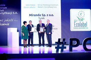 Miranda Spółka z o.o. pierwsza w Polsce z licencję EU Ecolabel