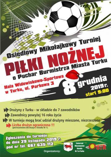 Osiedlowy Mikołajkowy Turniej Piłki Nożnej