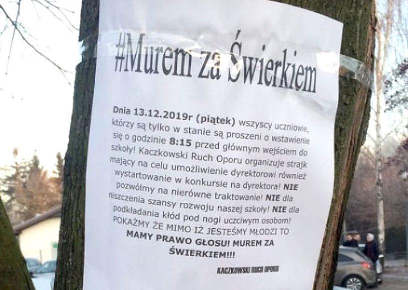 #MuremZaŚwierkiem - protest przeciw decyzji Zarządu Powiatu, który nabiera siły