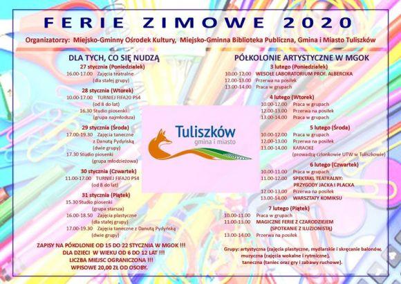 Ferie zimowe 2020 w Tuliszkowie