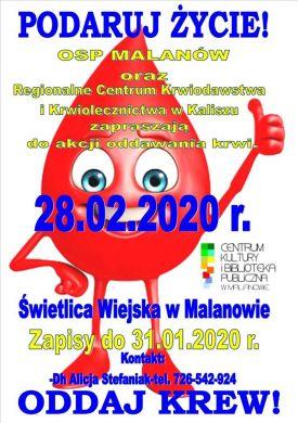 Podaruj życie oddaj krew!