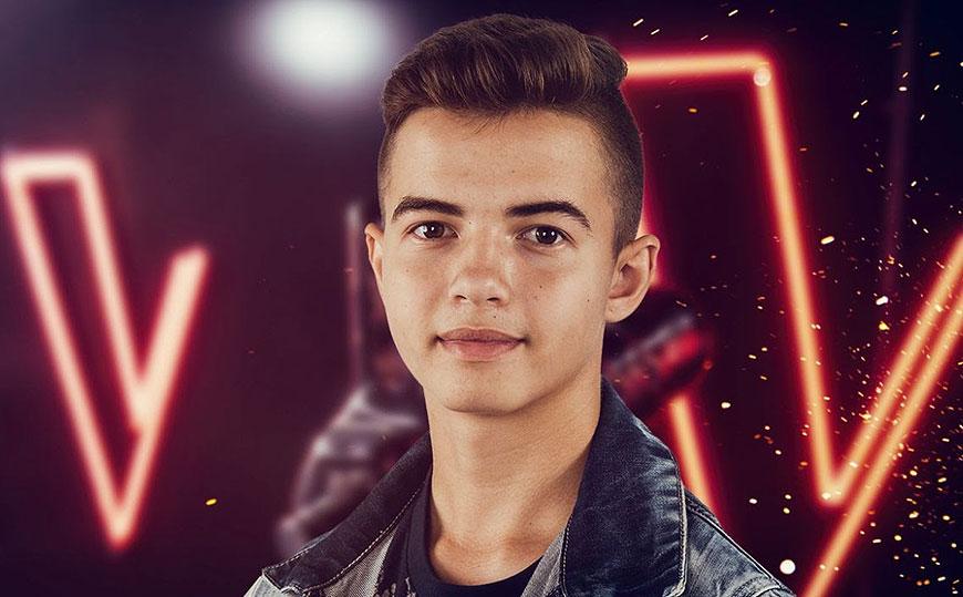 Oskar Brzostowski wygrywa bitwę w The Voice Kids - fot. Archiwum prywatne Oskar Brzostowski