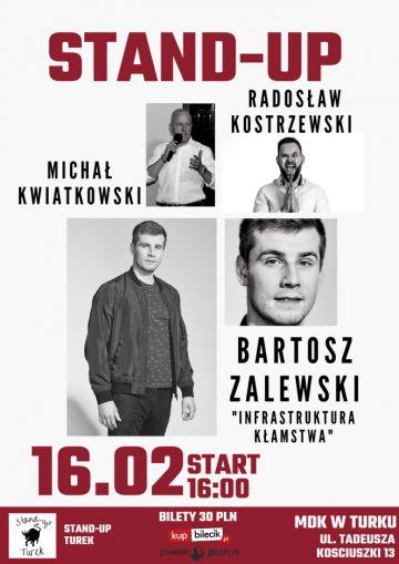 Stand-up w Turku. Wystąpią Bartosz Zalewski, Radosław Kostrzewski oraz Michał Kwiatkowski.