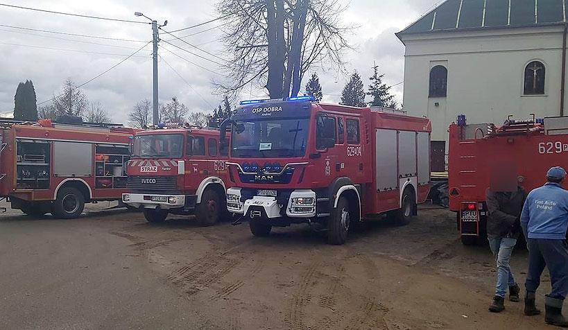Niegroźny pożar w Kościele pw. Świętej Trójcy w Skęczniewie. - foto: Nadesłane przez czytelnika