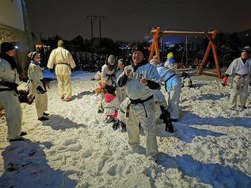 Karatecy na zimowych treningach w Zakopanem