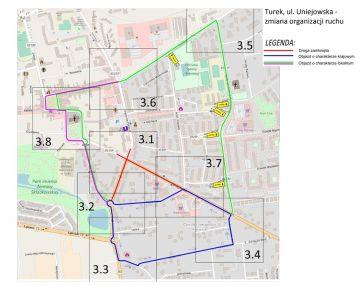 Kolejne zmiany w ruchu drogowym w związku z przebudową ul. Uniejowskiej.