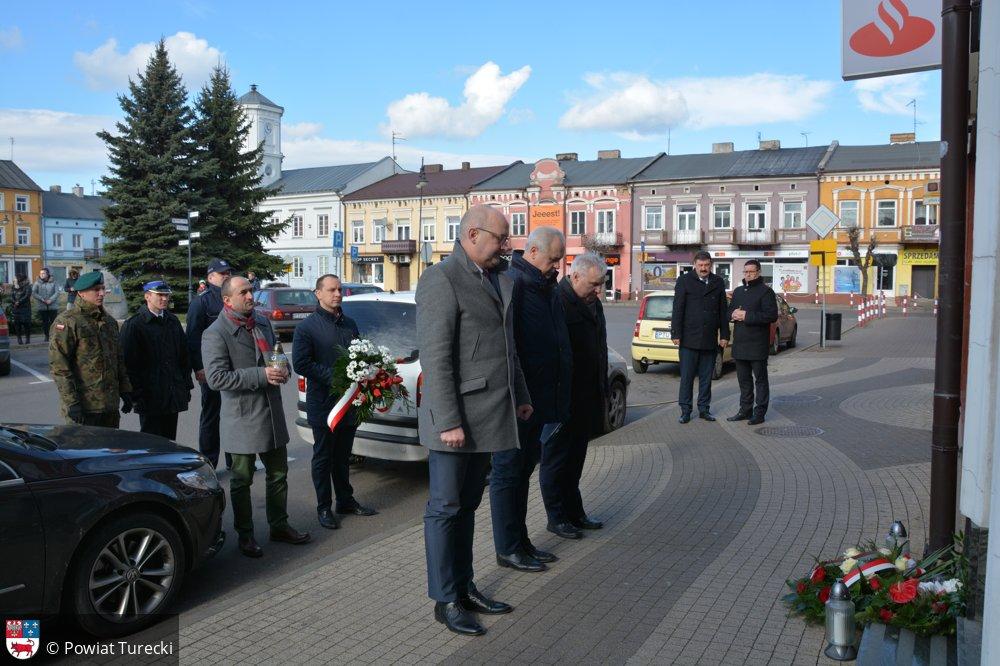 Uroczystość z okazji Dnia Pamięci Żołnierzy wyklętych - foto. Starostwo Powiatowe w Turku