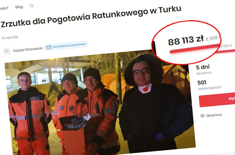 Zbiórka dla pogotowia w Turku bliska finału. Organizator z zablokowanym kontem na FB