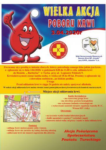 Wielka akcja poboru krwi już w ten piątek. Przyłącz się!
