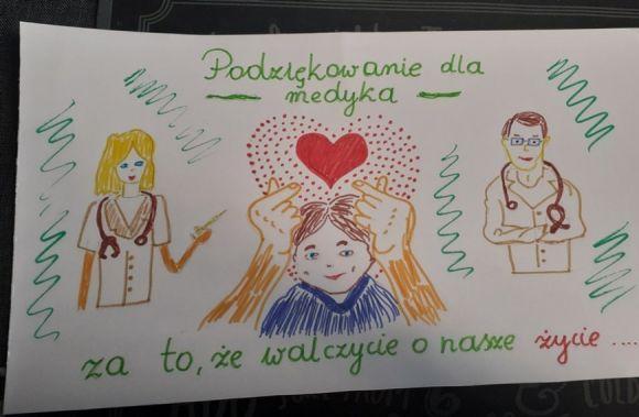 Kartka dla medyka - malowniczy finał akcji SP5