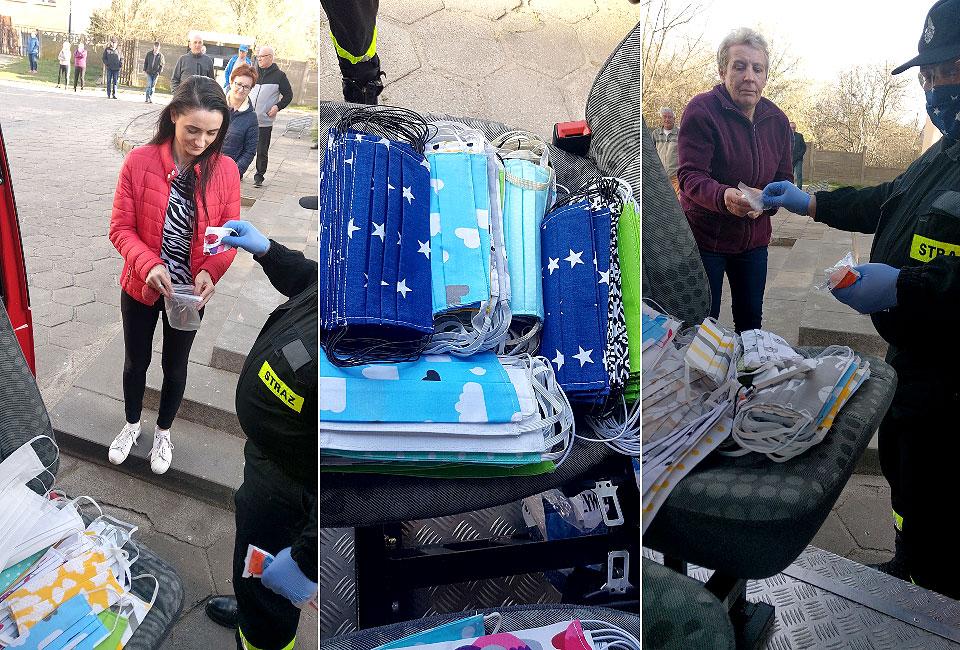 Rozdano maseczki dla mieszkańców. Od 16 kwietnia są obowiązkowe. - fot. OPS Turek