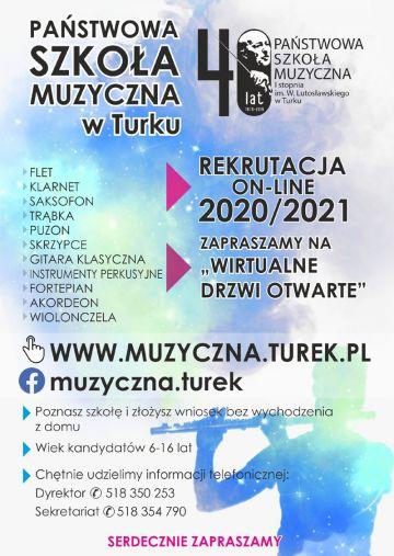 Odkryj w sobie wirtuoza - rusza rekrutacja do Państwowej Szkoły Muzycznej w Turku