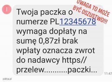 Mieszkaniec powiatu zamiast 1,49 zł przelał oszustom 10 tys zł. Uwaga na fałszywe SMSy